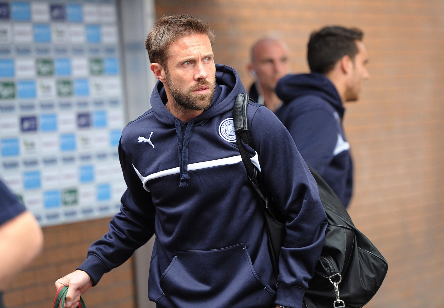Football - Burnley v Leicester City - Barclays Premier League - Turf Moor - 25/4/15 Leicester City's Matthew Upson arrives before the game  Action Images / Paul Burrows Livepic