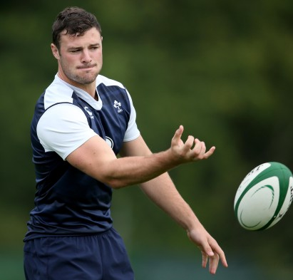 Ireland Rugby Squad Training, Carton House, Co. Kildare 4/8/2015 Robbie Henshaw  Mandatory Credit ©INPHO/Dan Sheridan
