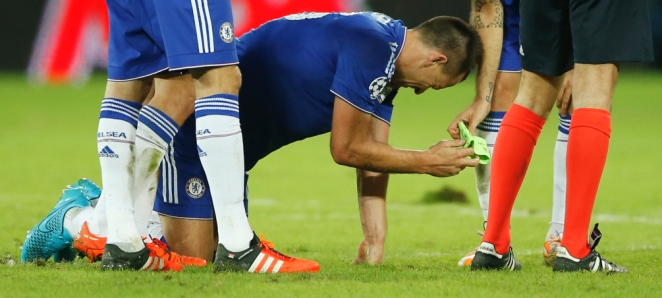 John Terry was injured in Chelsea's win over Maccabi Tel-Aviv