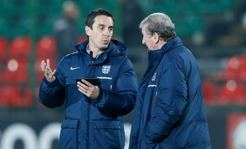 Gary Neville has worked as Roy Hodgson's first-team coach for England