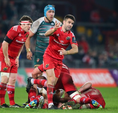 European Rugby Champions Cup Round 3, Thomond Park, Limerick 12/12/2015 Munster vs Leicester Tigers Munster's Conor Murray Mandatory Credit ©INPHO/Cathal Noonan