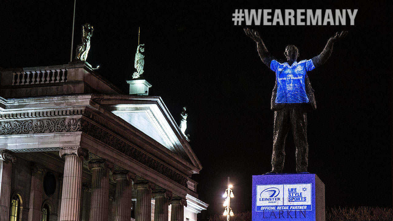 Dublin's Most Iconic Statues Come to Life in Support of Leinster Rugby