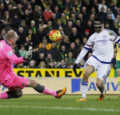Diego Costa scored on his last appearance, against Norwich in the Premier League