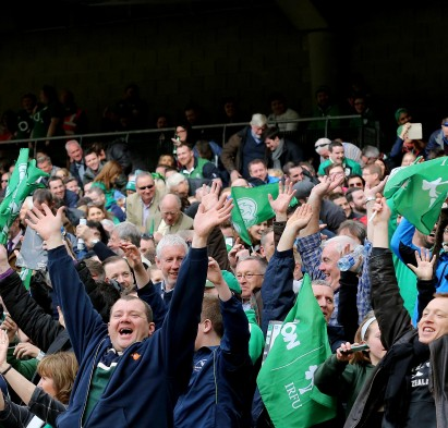 RBS 6 Nations Championship Round 4, Aviva Stadium, Dublin 12/3/2016 Ireland vs Italy Ireland fans do a mexican wave  Mandatory Credit ©INPHO/Ryan Byrne