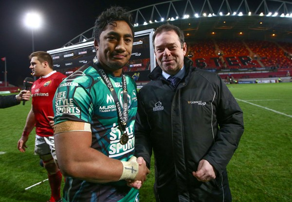 Bundee Aki scooped the man of the match award last time out against Munster ©INPHO