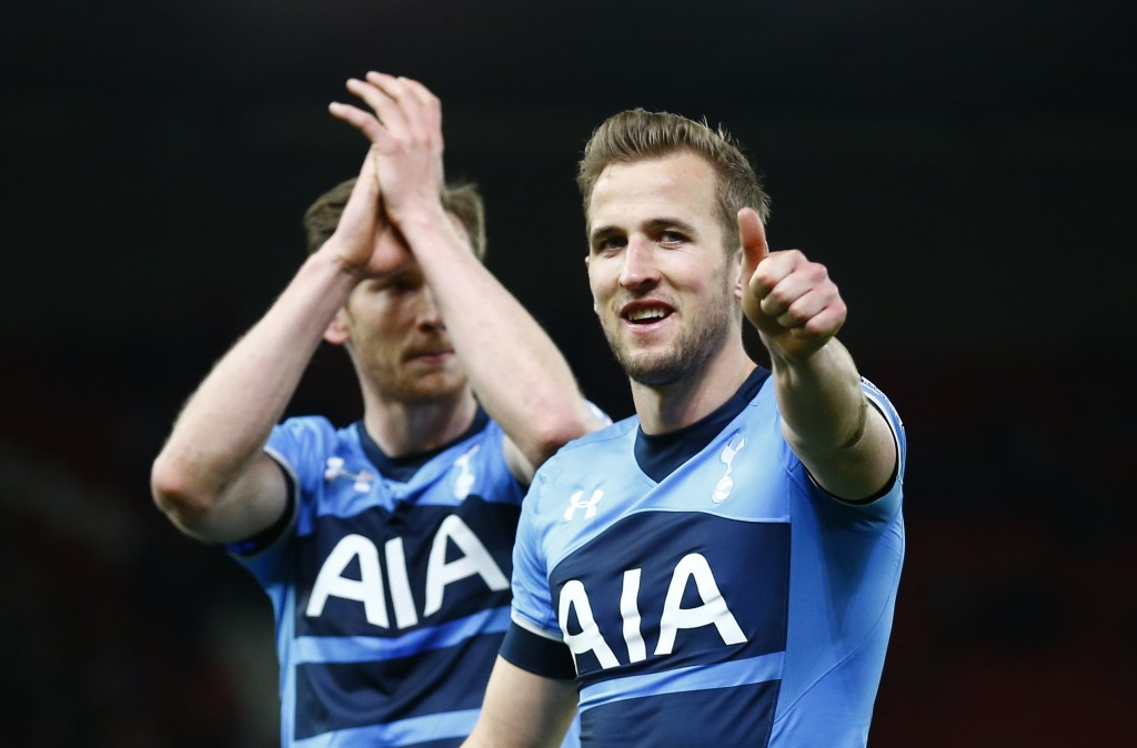 Tottenham's Harry Kane celebrates at the end of the match Reuters / Darren Staples