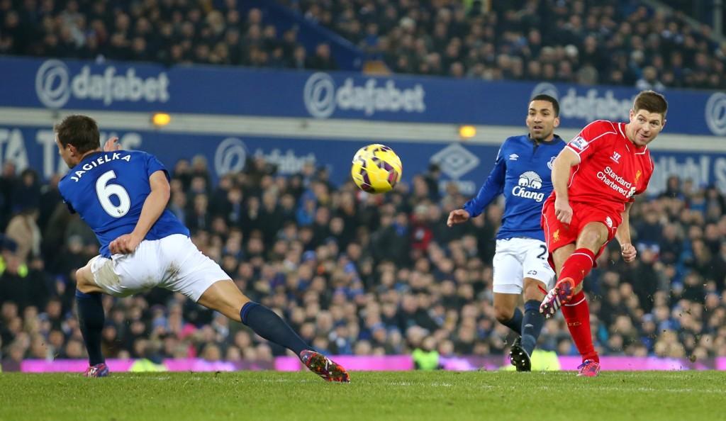 Liverpool's Steven Gerrard scored 10 goals against Everton. Action Images / Carl Recine
