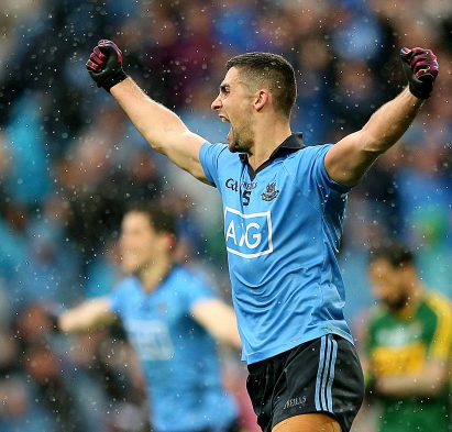 James McCarthy celebrates at the final whistle of the All Ireland Senior Championship Final