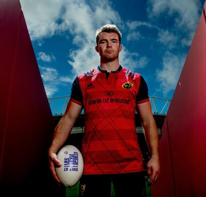 28 September 2016; Adidas Ambassador and Munster Rugby player Peter O'Mahony pictured at the launch of the new Munster Rugby European kit at Thomond Park in Limerick. The new jersey is available exclusively at Life Style Sports, along with all associated Munster Rugby team-wear.See www.lifestylesports.com for further details. Photo by Sam Barnes/Sportsfile *** NO REPRODUCTION FEE ***
