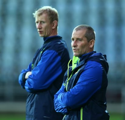 Guinness PRO12, Stadio Sergio Lanfranchi, Parma, Italy 5/11/2016 Zebre vs Leinster Leinster Head Coach Leo Cullen and Senior Coach Stuart Lancaster Mandatory Credit ©INPHO/Matteo Ciambelli