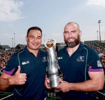 Connacht Rugby Team Homecoming, Galway 29/5/2016 Head coach Pat Lam and John Muldoon Mandatory Credit ©INPHO/James Crombie