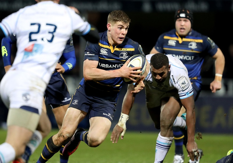 European Rugby Champions Cup Round 5, RDS, Dublin 13/1/2017 Leinster vs Montpellier Leinster's Garry Ringrose runs in a try Mandatory Credit ©INPHO/Dan Sheridan