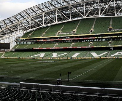 Aviva Stadium Dublin, home of Ireland rugby
