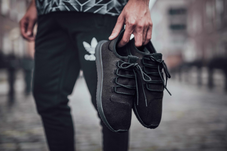 Triple Black Trainers - adidas Tubular Shadow