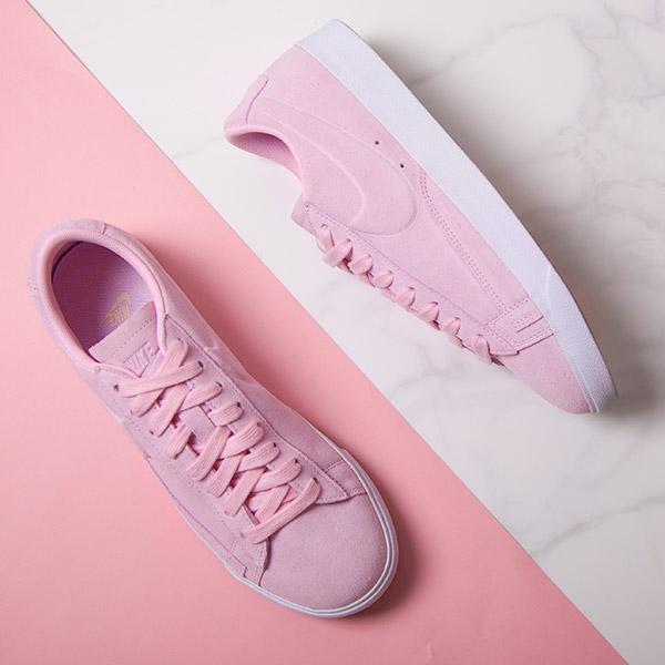 Women's Pink Nike Blazer Low