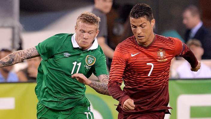 What Ronaldo and James McClean have in common