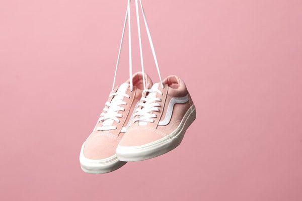 Women's Pink Vans Old Skool Trainers