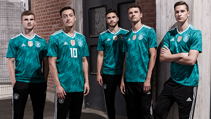 584307bd7 Germany s home jersey very much fits the status quo but the away jersey is  an extravagant piece of design and may dazzle some observers.