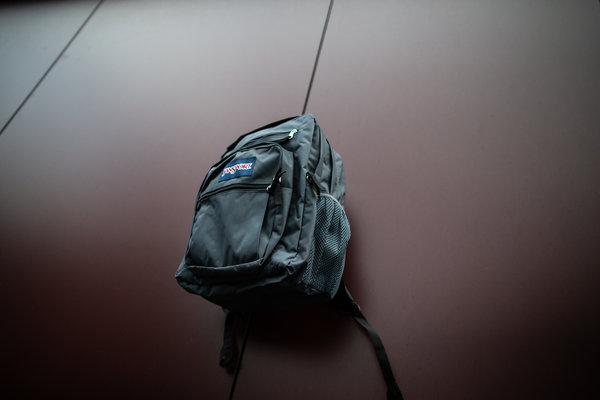 Grey Jansport Student Backpack