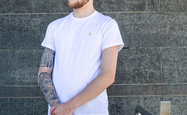 White Farah Sports T-Shirt