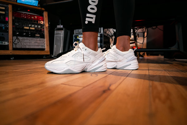 Women's White Nike Tekno Trainers