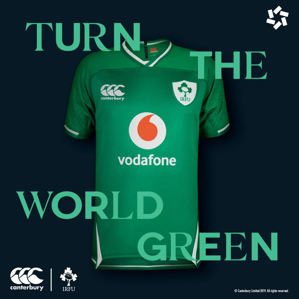new ireland rugby home jersey 2019